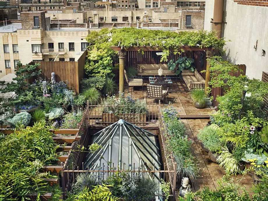 New york city terrace garden design