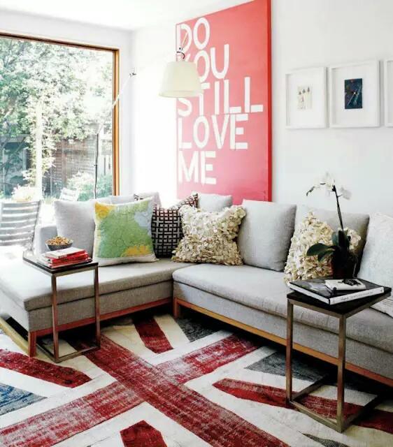 Pop Art Rug And Poster For Pop Interior Design