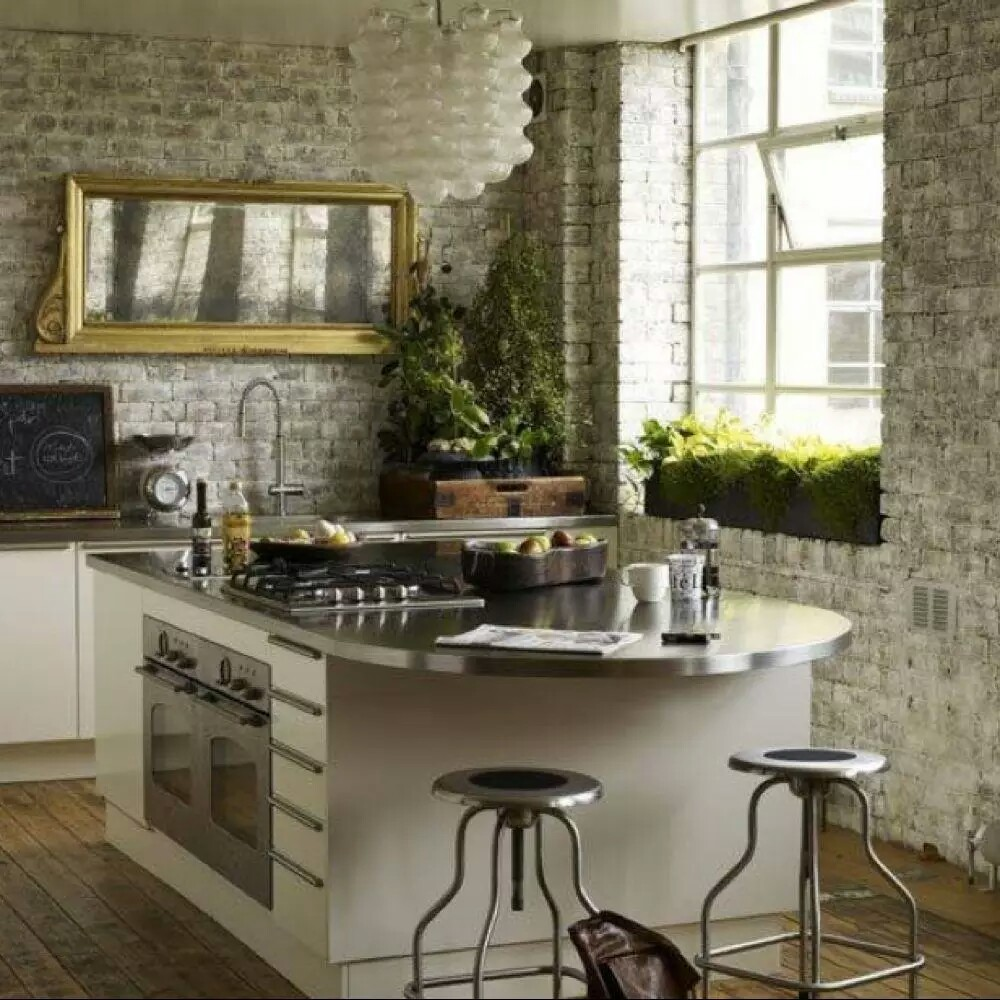 Rustic Kitchen With Modern Design And Green
