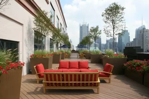 Terrace garden deck view new york
