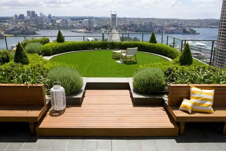 Terrace garden new york city view