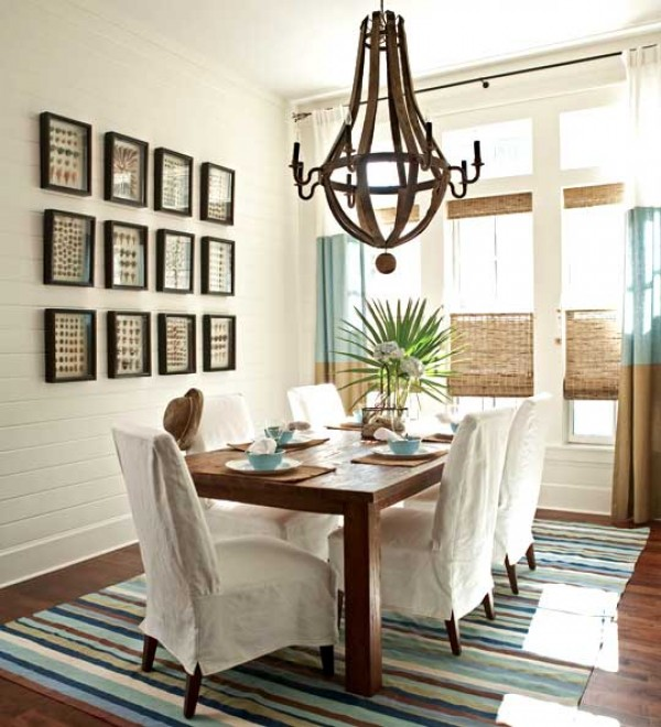 Versatile-Brown-Dining-Room-Casual-Furniture-Dining-Table-Chair-Cutlery-Set-Pendant-Lamp-Laminate-Flooring-Texture-Assorted-Color-Rug