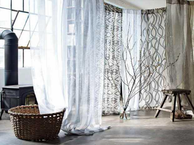 White window Sheers