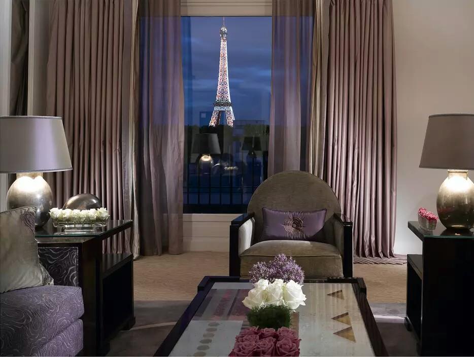Au Plaza Athenee Terrace Eiffel Suite Bedroom. Paris Eiffel Tower View Part 77
