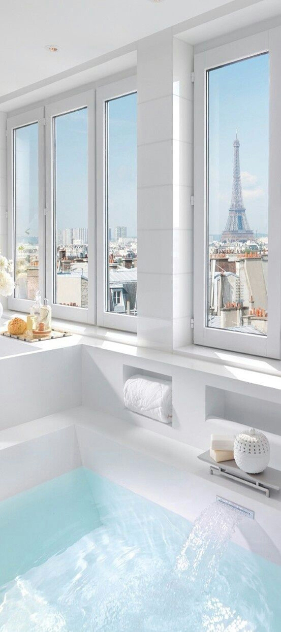 Bathroom With Eiffel Tower View Paris