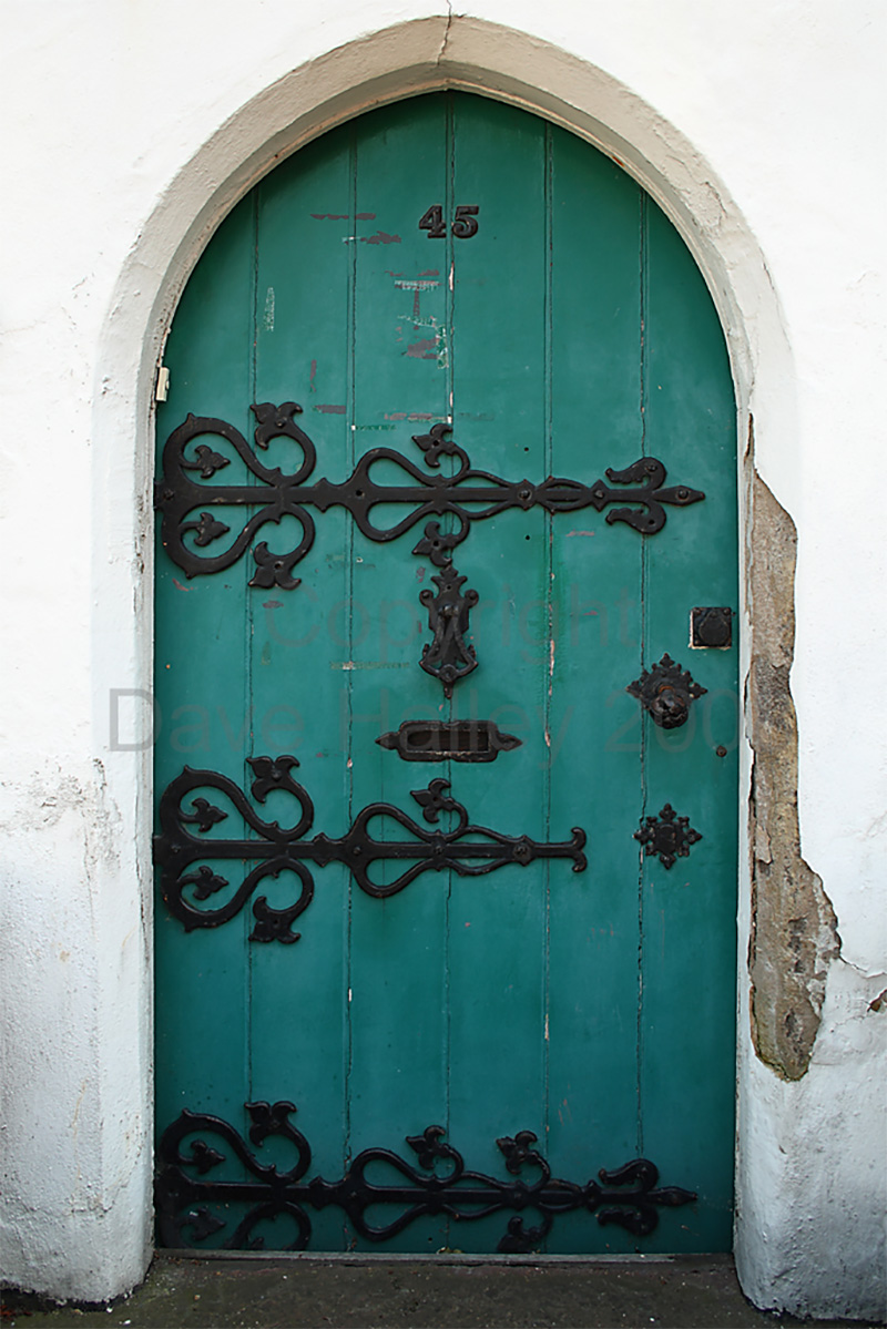 Beautiful Wooden Blue Vintage Doors
