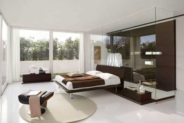 Wonderful Bedroom Ideas With Glass Divider