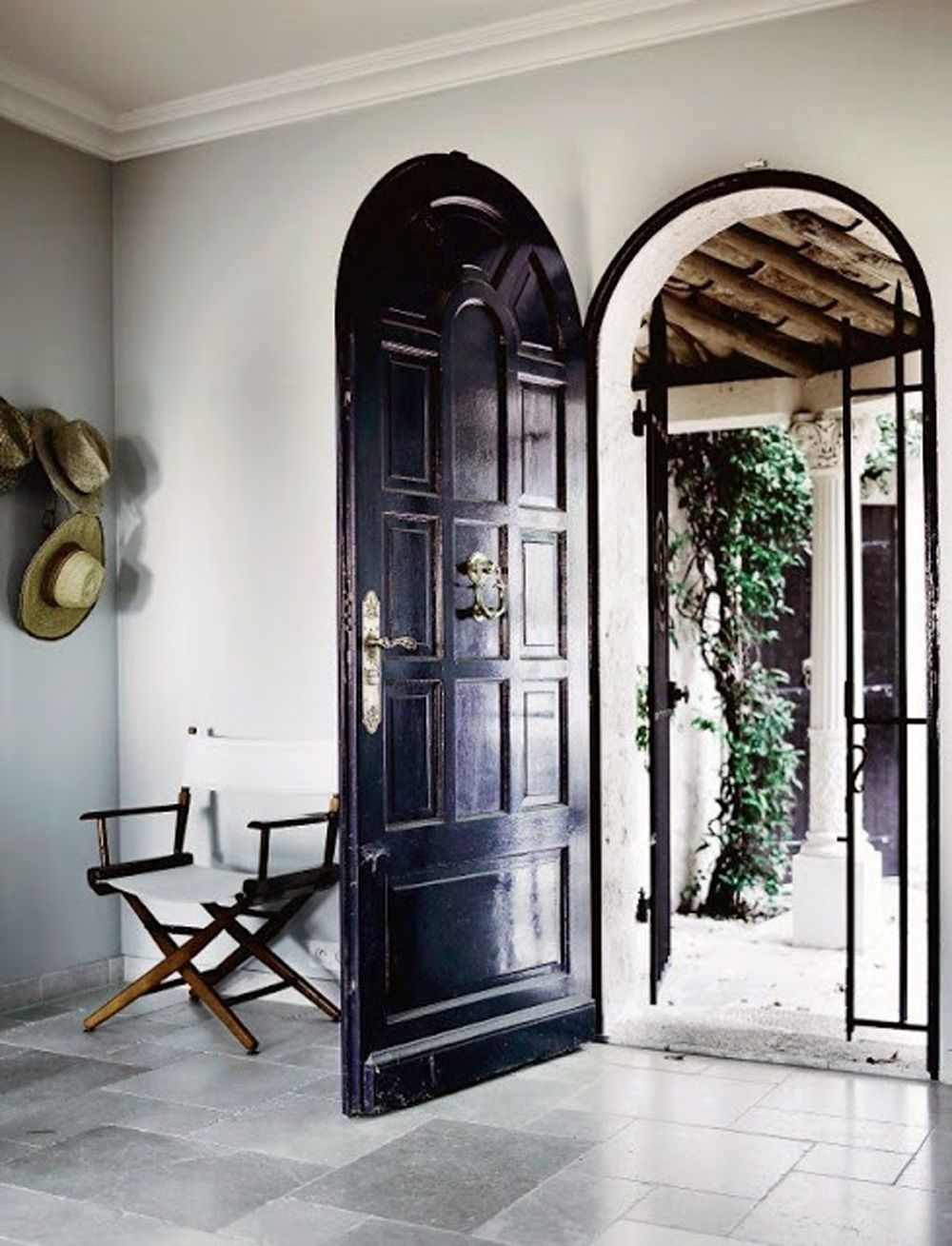 Black Wooden Vintage Doors