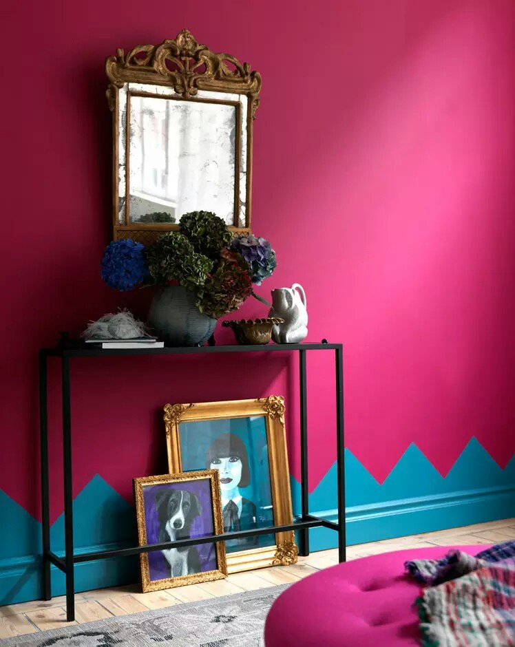 bright vibrant pink interior design idea~01