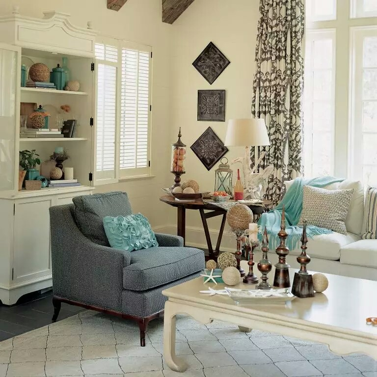Beach House Decorating Ideas: Coastal Decor Living Rooms