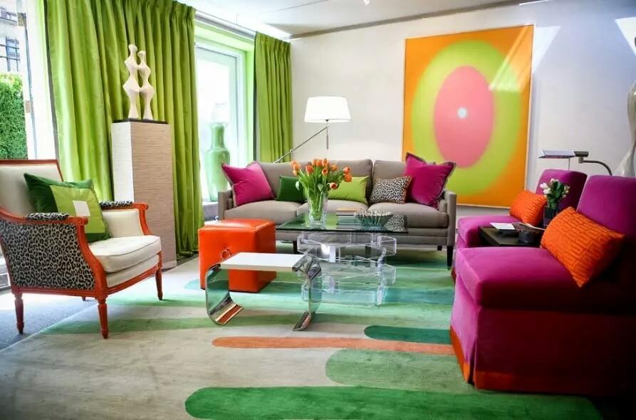 Colourful Vibrant Living Room Interior Design