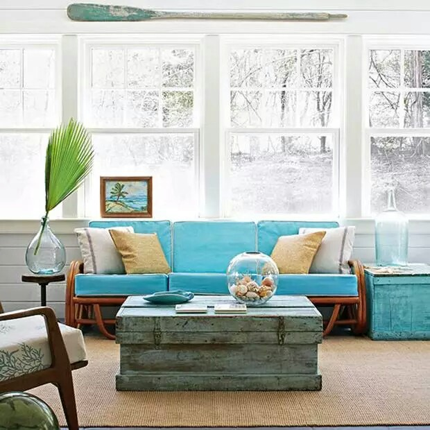 Coastal Decor Living rooms