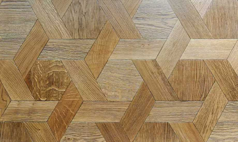 geometric wooden flooring hexagon~01