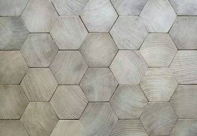 hexagonal wooden flooring design~01