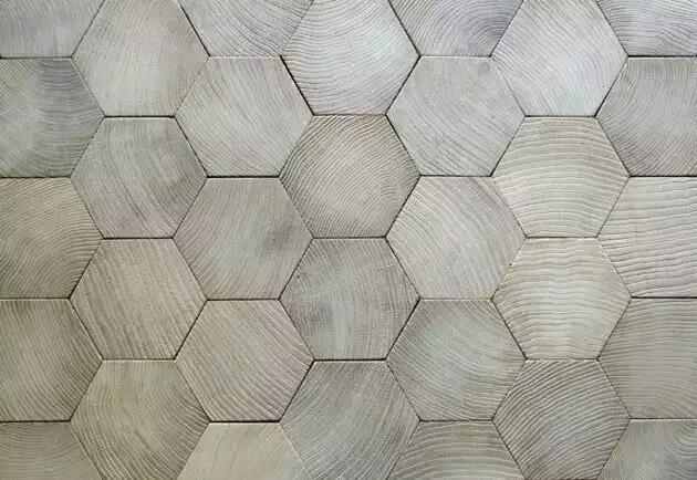 hexagonal wooden flooring design~01