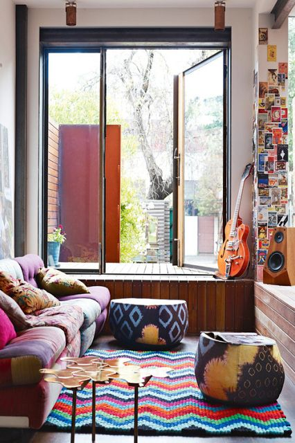 inspiring-bohemain-interiors living-room-designs-for musician