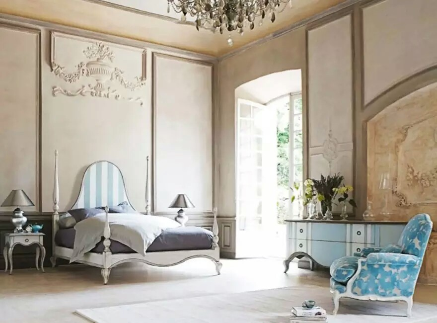 French interior design theme my decorative for Big bedroom interior design