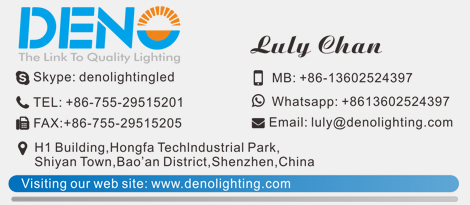 Deno Lighting Visiting Card