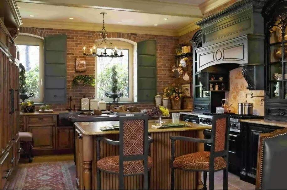 Luxury French Country Kitchen Design Rustic Style
