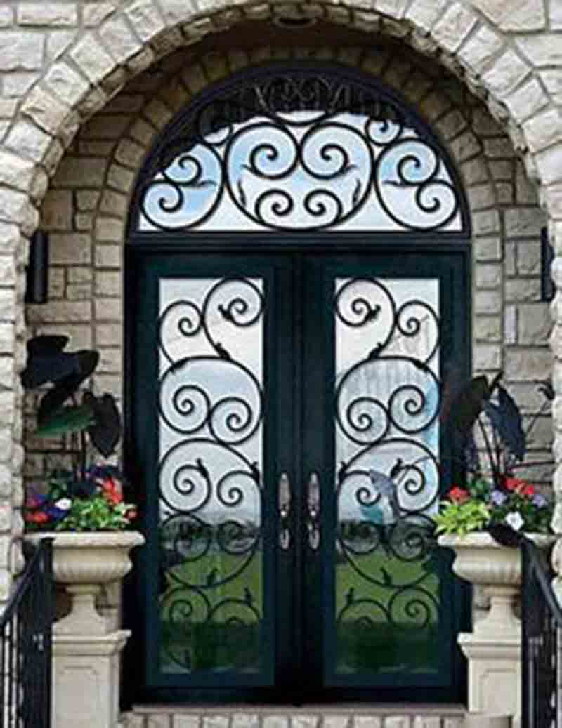 metal and glass vintage doors
