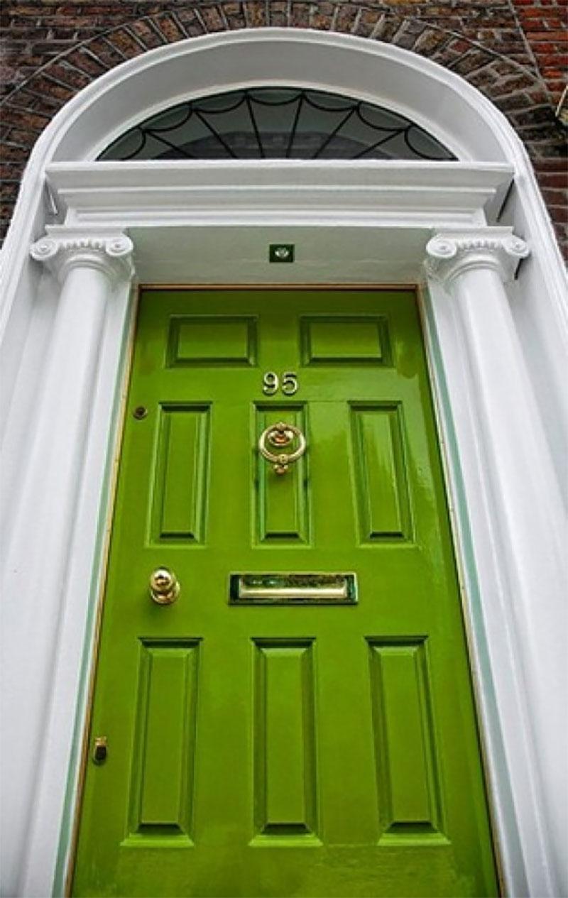 Green Minimal Vintage Doors