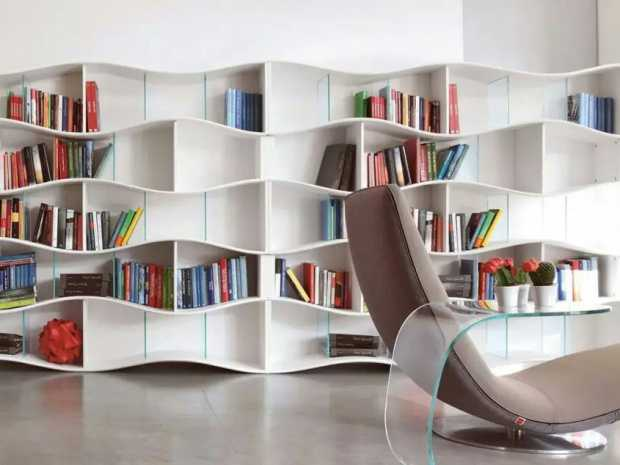 Modern Interior with Beautiful Bookshelves