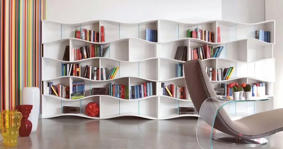 Modern Interior With Beautiful Bookshelves