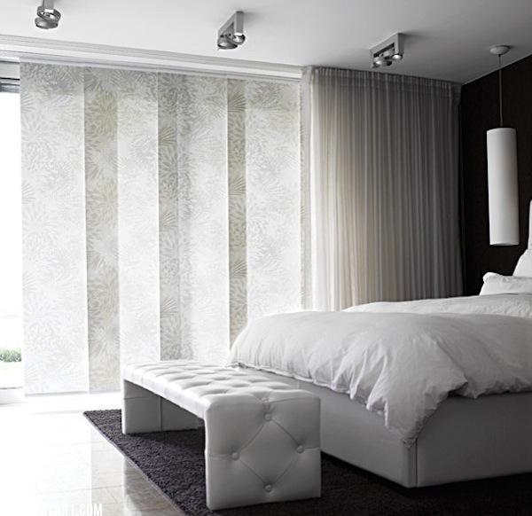 Modern White Multi Layered Window Shades