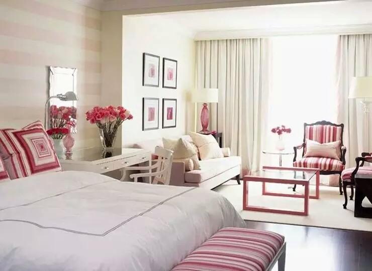 pink white elegant interior~01