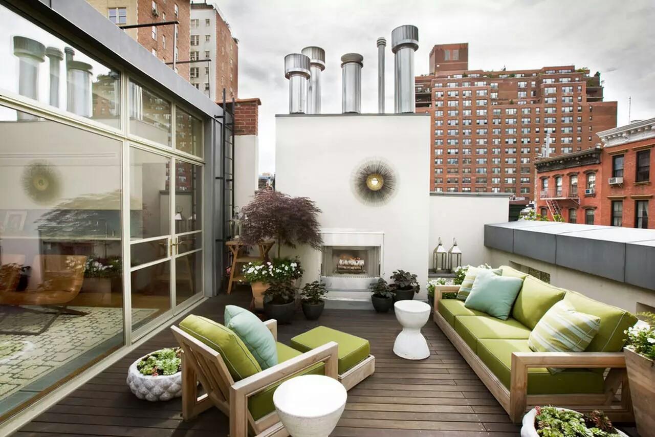 Roof Top Terrace Modern Patio New York