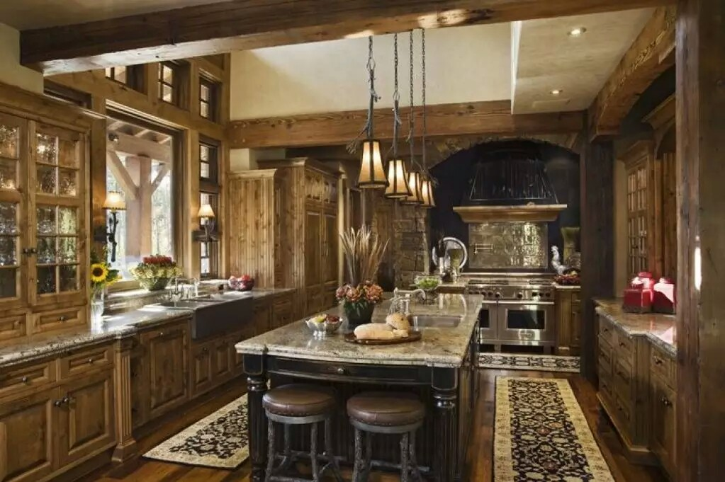 Rustic Themed Kitchen