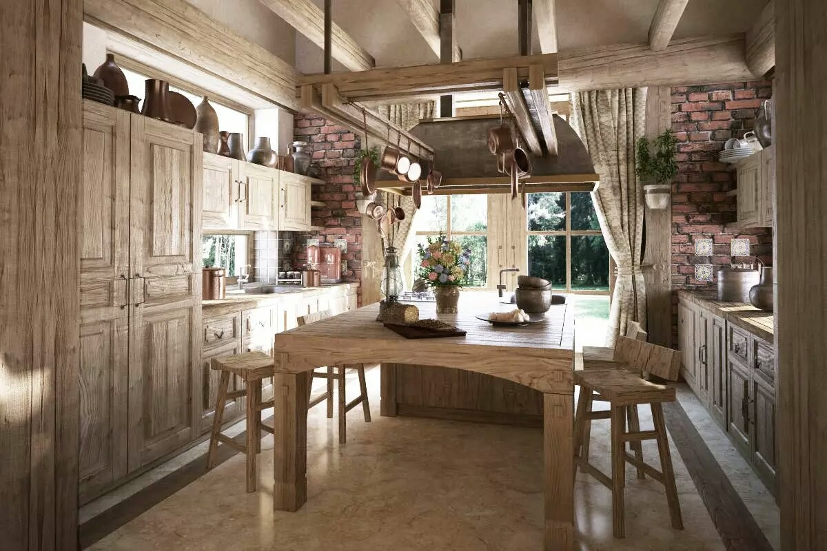 Rustic Looking Kitchens Get A Rustic Style Kitchen My Decorative