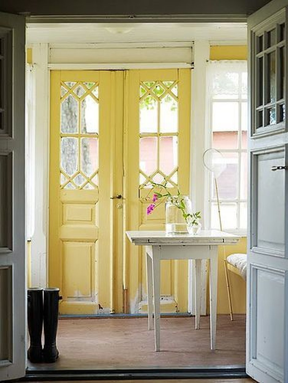 yellow vintage doors