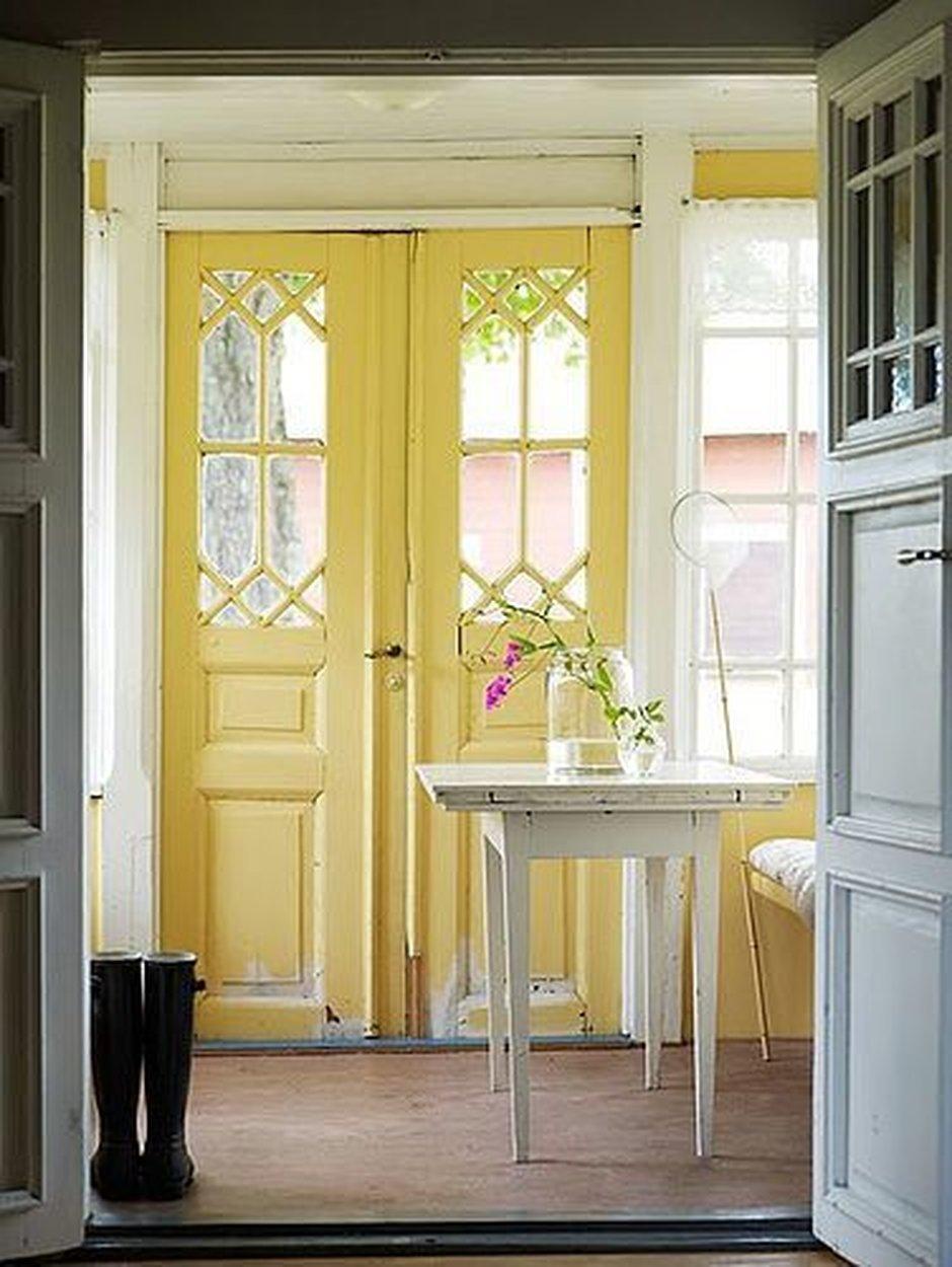 yellow vintage doors