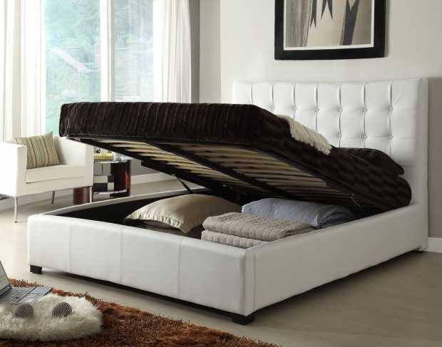Bed with Storage Open