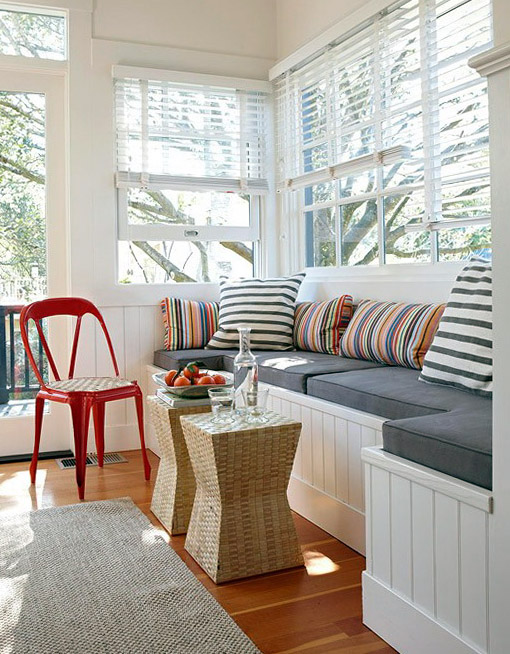 Interior Design Relaxing Window Sill Cushioned Seats