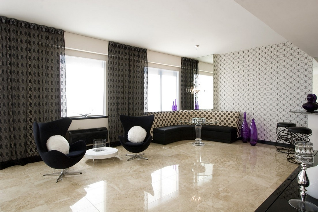 Italian marble finish for living rooms my decorative Black tile flooring modern living room