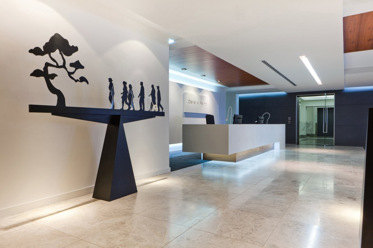 Office Interiors With Italian Marble Flooring