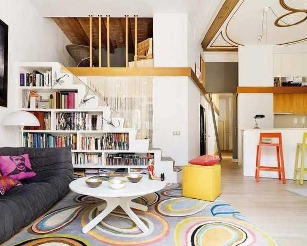 Retro style interior design