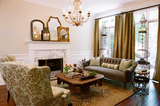 Traditional-Country side Theme-For-Living-Room