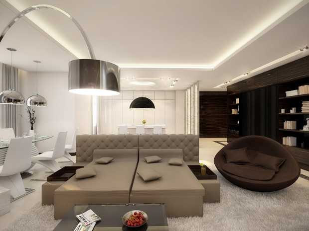 White-taupe-brown-lounge