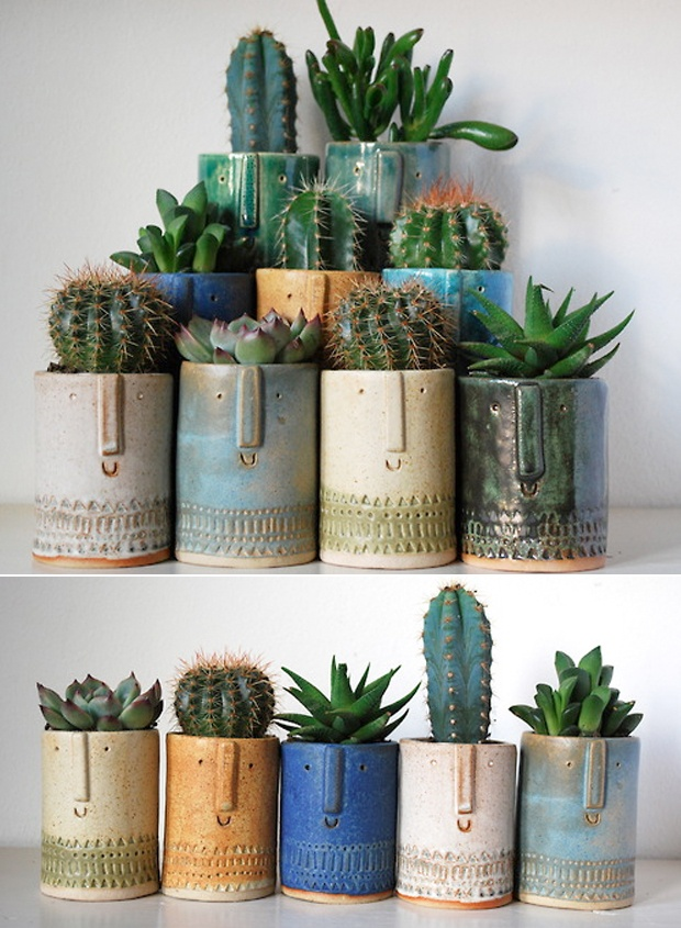 ceramic mugs for succulents