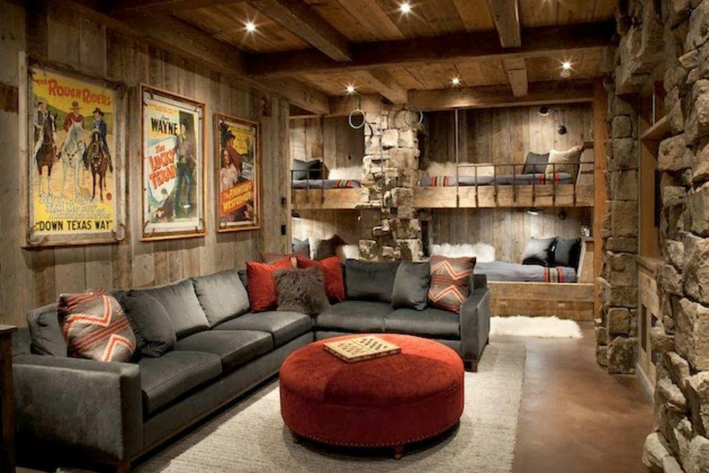 Rustic Interio Design Style Living Room