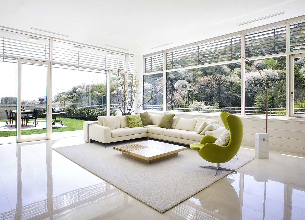 White Living Room Architecture