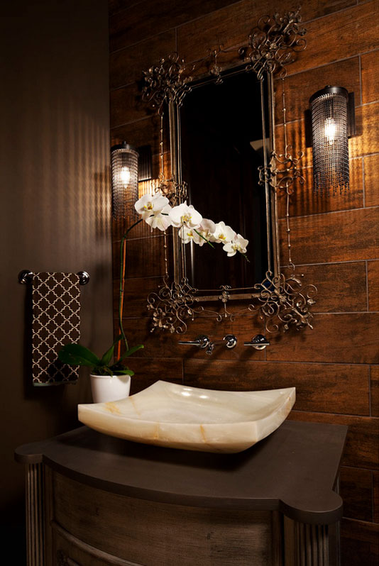 Bathroom Decorated With an Unusual Artwork