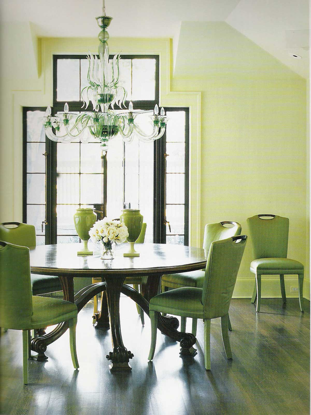 Terrific Green Dining Room Interior Design Designs My Decorative Home Interior And Landscaping Transignezvosmurscom