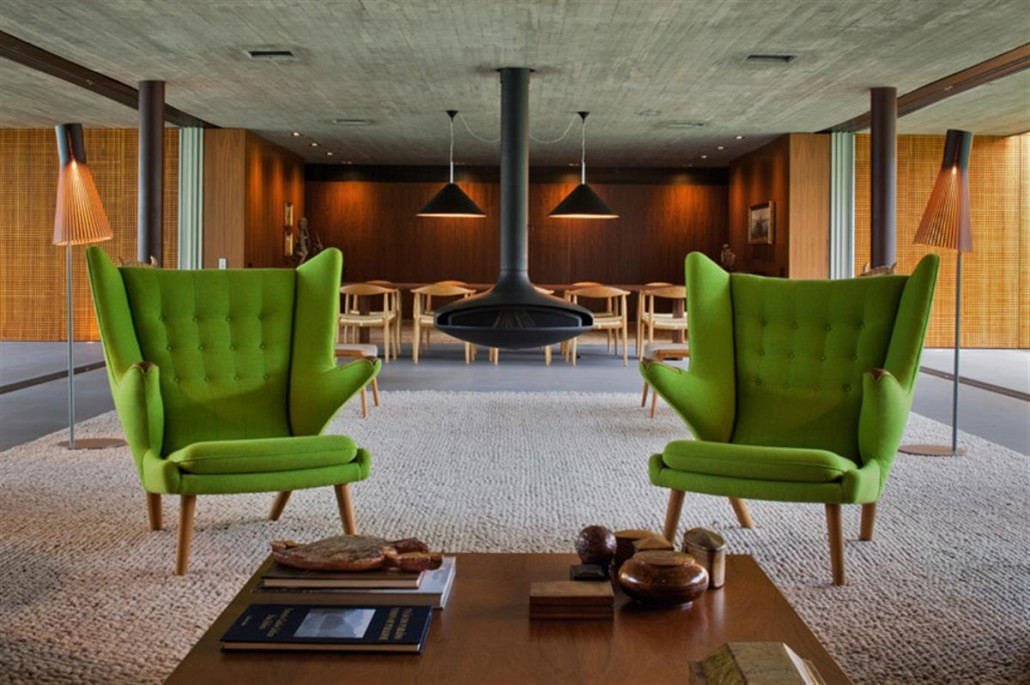 Green Wingback Chairs with Arm Style above Rug