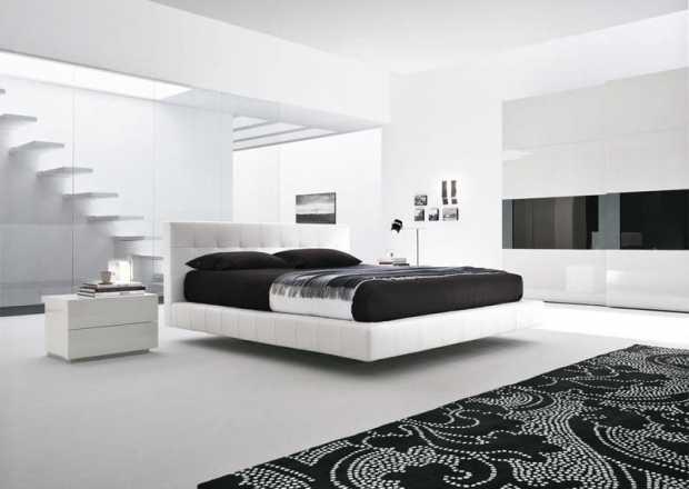 Modern White Minimalist Bedroom