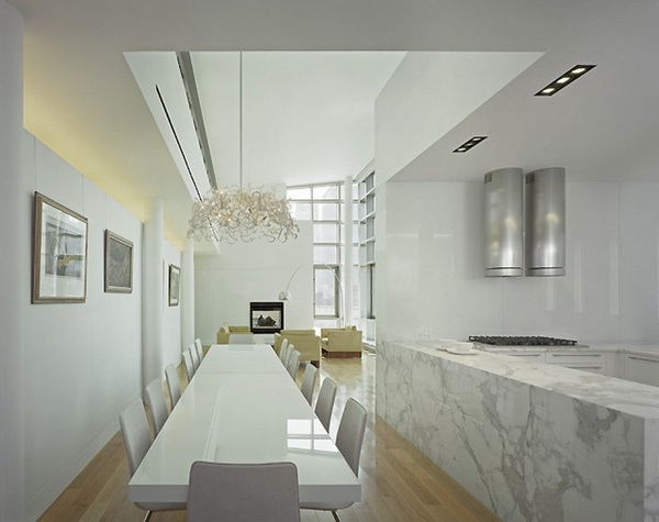 White Marble Dining Room