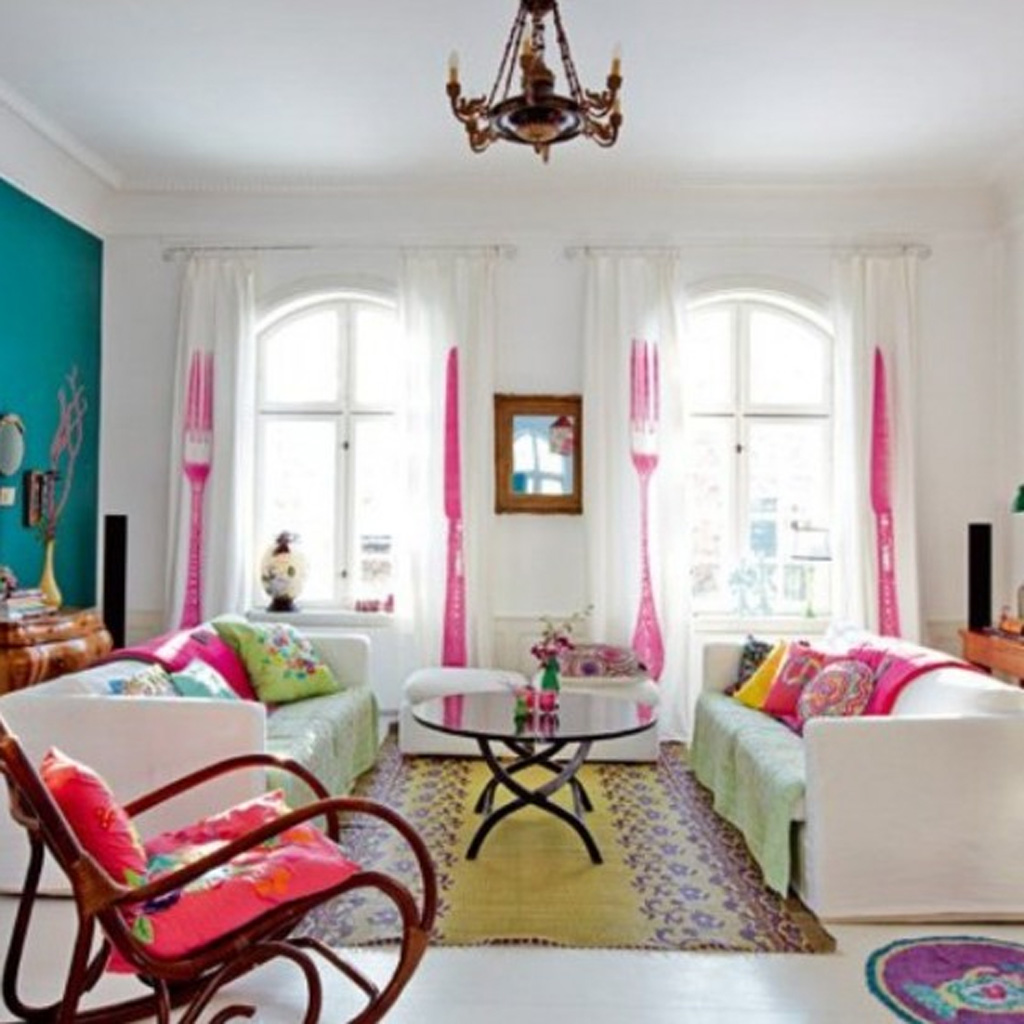 Home d cor colour tips my decorative Pink room with white furniture
